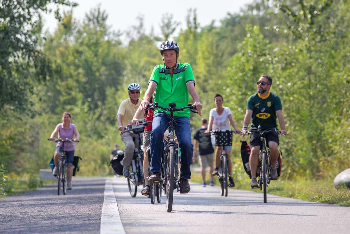 geführte Radtour Ringpromenade Zollverein Guide ehemaliger Bergmann